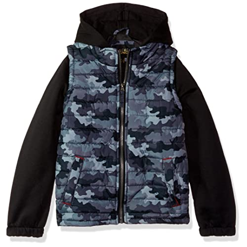 SNOW DREAMS Boys Hooded Puffer Vest Full Zip Quilted Sleeveless Jacket Pockets N-M6608