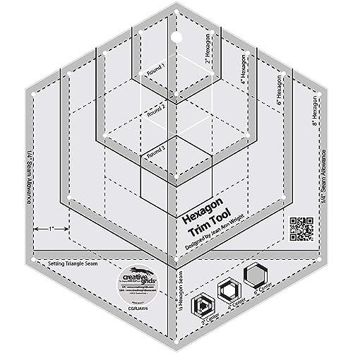 120 Degree Triangle and Fat Cats Mini Hexagon Vallenwood Mini Acrylic Rulers Templates Set of 5 Octogon Template Companion Angle
