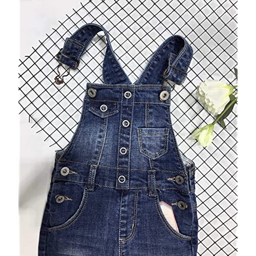 KIDSCOOL SPACE Baby Toddler 2 Buttons Adjustable Straps Fashion Jean Overall
