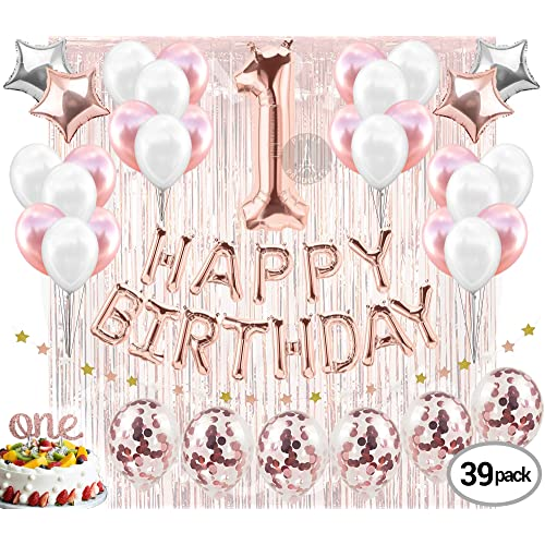 Buy 1st BIRTHDAY GIRL DECORATIONS (39 Piece Set) | Great for
