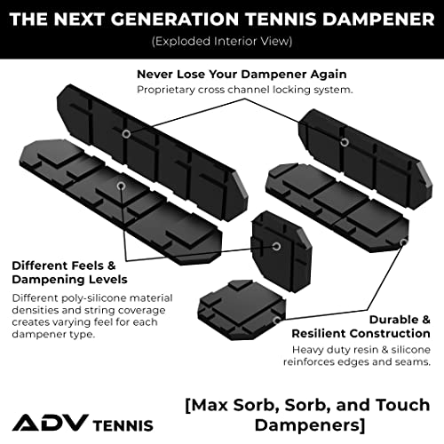 ADV Tennis Vibration Dampener Set of 3 Premium Quality Poly-Silicone Material Technology Durable Ultimate Shock Absorbers for Racket and Strings and 100/% Reliable