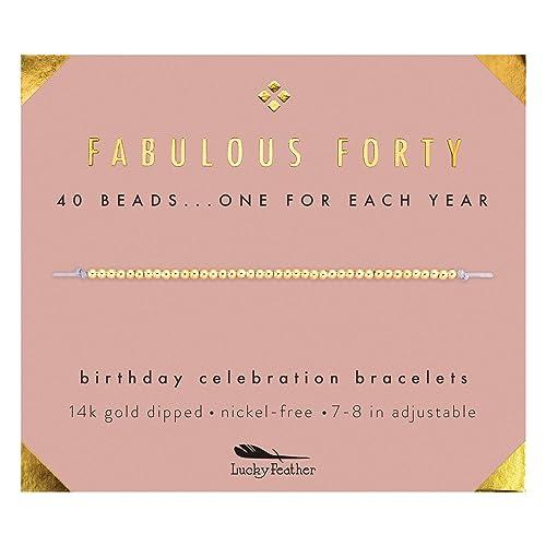 40th Birthday Gift Ideas 40th Birthday Gifts For Women Forty And Fabulous 40th Birthday Ideas 40 And Fabulous Artisanal Wish Bracelet