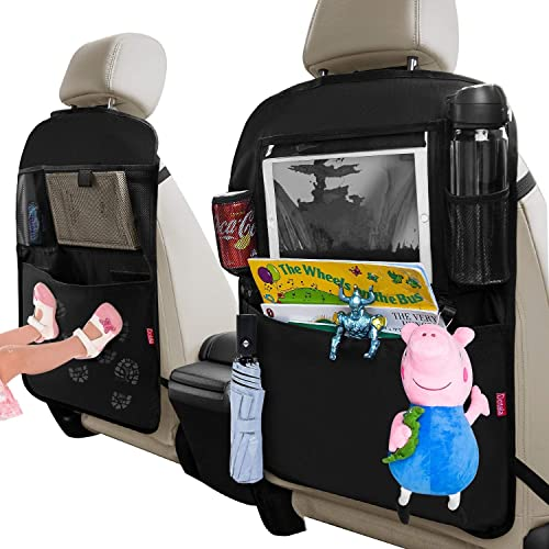 Kick Mats Back Seat Protector 1 Pack Yibaision Back Seat Car Organizer with USB Charging Ports,Tablet Holder,Tissue Holder /& Bottle Holder for Kids Toys Baby Stuff