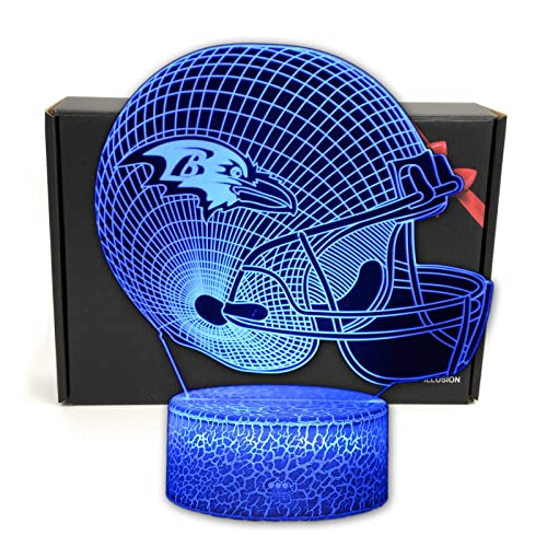 Night Light for Boys Men Women Football Helmet Light Perfect Gift for Football Sports Lovers Indianapolis Colts Touch Control Football Helmet Light- Upgraded Color Changing Touch Light
