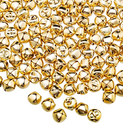 Monrocco 100pcs 10mm Vintage Bronze Color Alloy Small Jingle Bell for DIY Bracelet Anklets Craft Jewelry Making Festival Decorations Home Decoration