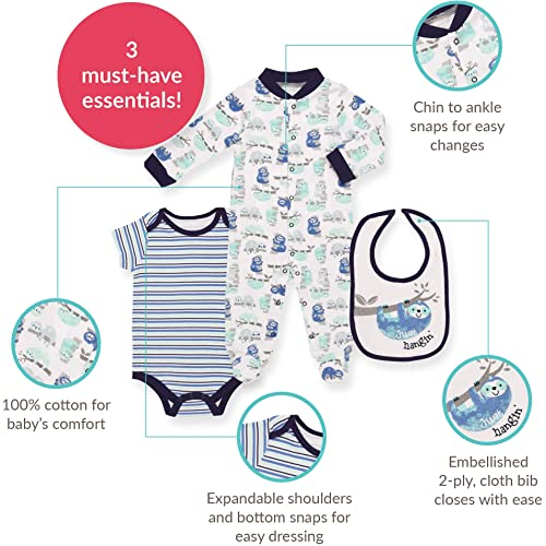 57cc769c9 PrevNext. PrevNext. Mini B. by Baby Starters 3-Piece Layette Set- Blue/Just  Hanging