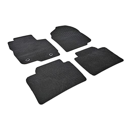 Black Autotech Zone Heavy Duty Custom Fit Car Floor Mat Compatible with 2016-2019 Mazda CX-9 SUV All Weather Protector 4 Pieces Set