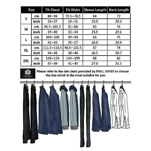 Paul Jones Mens 2 Pockets Soft Shawl Collar Cardigan Sweater with Ribbing Edge