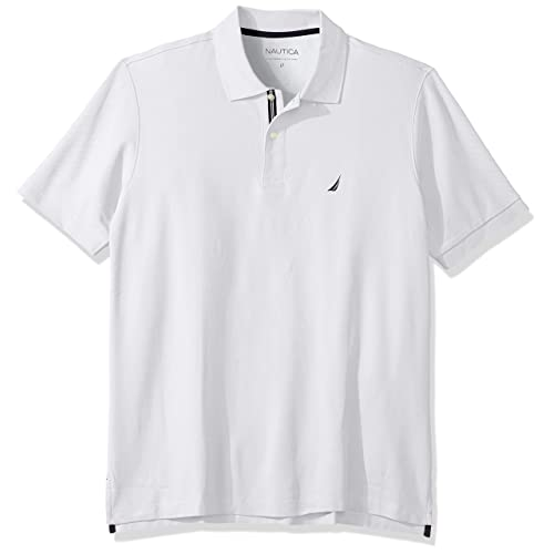 Nautica Mens Big and Tall Classic Fit Short Sleeve Solid Tipped Collar Soft Polo Shirt
