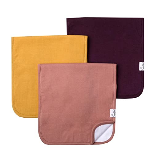 """Baby Burp Cloth Large 21x10 Size Premium Absorbent Triple Layer 3-Pack Gift Set /""""Autumn/"""" by Copper Pearl"""