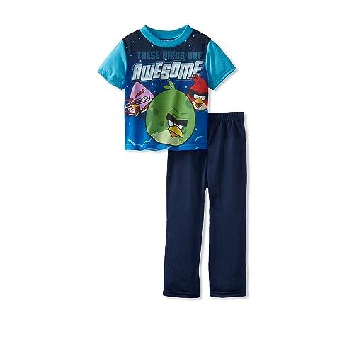 Big Boys Racing Legend 2-Piece Pajamas Angry Birds Go