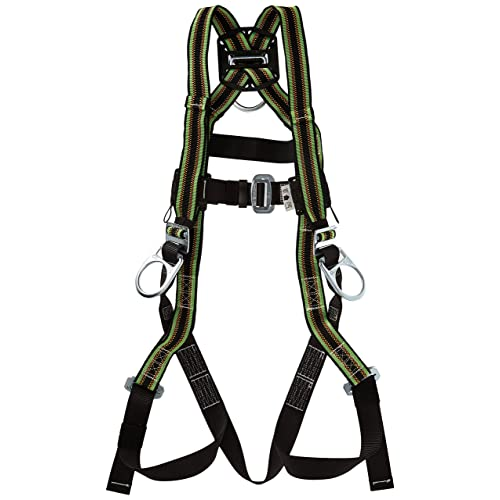 Universal Size-Large//XL Side D-Rings and Comfort-Touch Back D-Ring Pad 400 lb E650QC-7//UGN Miller DuraFlex Ultra Stretchable Full Body Safety Harness with Quick-Connect Buckles Capacity