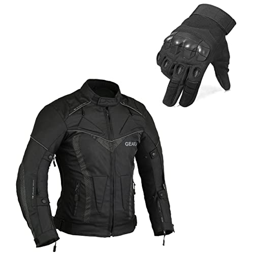 Jacket XL.Glove XL Borneair Motorbike motorcycle Protective Jacket with Gloves