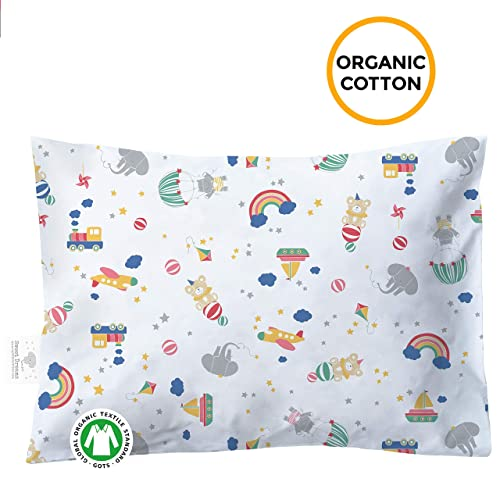 Naturally Hypoallergenic Soft Comfy 100/% Certified Organic Cotton YourEcoFamily Toddler Pillowcases White 2 Pack White 2 Pack /…