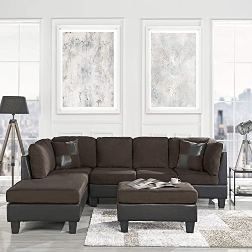 Cool Buy 3 Piece Modern Microfiber Faux Leather Sectional Sofa Gamerscity Chair Design For Home Gamerscityorg