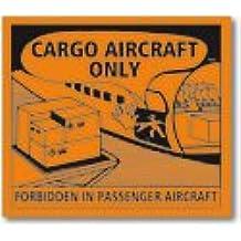 UN New 2009 ADR Cargo Aircraft Only Labels Black on Orange ADR /& UN Complient Sticker - Quantity: 25 110mm x 126mm By Inoxia