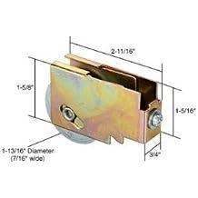 CRL Sliding Glass Door Roller with 1-1//2 Nylon Wheel 3//4 Wide Housing for Lenehan Doors