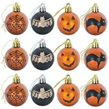 Calendars 3 each Frankenstein Witchcraft Tomb Design Plush Felt Ornament Hanging Decorations for Trees Eyeball Party Decoration Halloween Ornaments Approx Broom Set of 6 Halloween Pumpkin