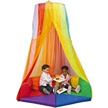 LIOOBO Rainbow Semi-Circle Retreat Canopy for Kids Bed Canopy Dome Mosquito Net for Playroom Classroom or Bedroom 1.2m
