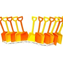 Srenta Small Sand Scoop Plastic Shovels Toy Pack of 36 Plastic Rounded Scoop Sand Shovels for Kids