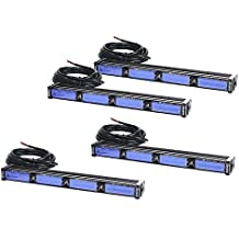 Blue//Blue 16 LED Police /& EMS Vehicle Truck Windshield Strobe Warning Dash /& Deck Light Bar Abrams Focus 200 Series 48W