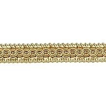 D/ÉCOPRO 9 Yards|1//2 inch Sandstone Light Beige Basic Trim Decorative Scroll Gimp Braid|Style# 0050SGC Color A10, 27 Ft // 8.2 Meters