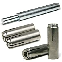 Pack of 25 MKT Sup-R-Drop 316 Stainless Steel Mechanical Anchor 1//2-13 Thread Size 5//8 Diameter x 2 Length