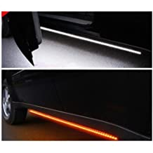 DRL and White Courtesy Lights OPT7 2pc 60 Side Kick Running Board LED Strips w//Amber Turn Signal