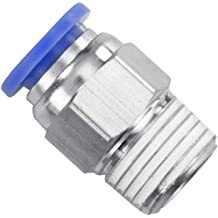 Tailonz Pneumatic Elbow and Straight Combination 3//8 Inch Tube OD x 1//4 Inch NPT Thread Push to Connect Fittings PC-3//8-N2+PL-3//8-N2 Pack of 12