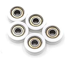 60mm OD Garage Door Nylon Cable Pulley Groove Bearing Idler Wheel Creamy White