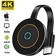 5G WiFi Wireless Display Receiver WiFi Display Dongle HDMI Devices FayTun 4K Wireless HDMI Display Adapter Projector Monitor iPhone iPad Laptop Android Phones Miracast Dongle for TV