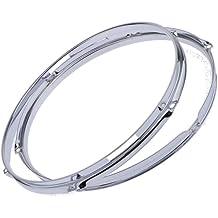 D DOLITY 14in 10 Hole Snare Drum Die Cast Hoop Set for Drum Build or Restoration 2.5mm