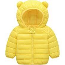 ARTMINE Baby Boys /& Girls Down Alternative Winter Warm Hoodie Jacket 4Y 12M