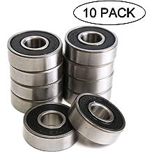 10 Pcs Double Metal Shielded Pack of 10 Scooters etc. Fit for Skateboard Bearings 3D Printer RepRap Wheel Roller Skates Longboard 623ZZ 3 x 10 x 4 mm Deep Groove Ball Bearing Inline Skates