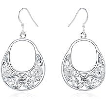 Two Circles Personality Geometry Word Earrings Alloy Spring Earrings KAKAKI Multi-Layer Earrings
