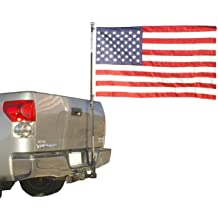 The Standard Hummer Jeep CJ Hitch Mounted Triple Flag Holder Made in the USA