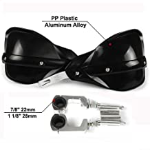 Large PBYMT Gloss Black Coffin Cut Handguards Hand Guards Compatible for Harley Davidson Touring Sportster Dyna 2007-2020
