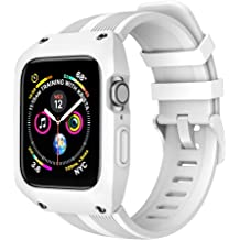 Aipeariful Band Compatible with IWatch Bands with Screen Protector Case 38mm 40mm 42mm 44mm,Wristband Loop Replacement Band with Screen Protector Case for Iwatch Stainless Steel Series 1//2//3//4//5