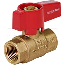 Flextron FTGC-BC14-18B 18 Flexible Epoxy Coated Gas Line Connector with 3//8 Outer Diameter and 1//2 Fip x 1//2 Fip Fittings Black//Stainless Steel