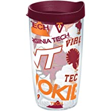 Tervis 1056597 Virginia Tech Hokies Logo Tumbler with Emblem and Black Lid 16oz Clear