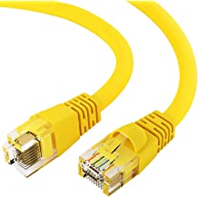 10 Gigabit//Sec High Speed LAN Internet//Patch Cable GOWOS Cat6 Flat Ethernet Cable Black 10-Pack - 20 Feet 550MHz 32AWG Network Cable with Gold Plated RJ45 Snagless//Molded//Booted Connector