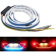 shunyang Car Replacement LED Strip Light for Cars Trucks Pickup 2835 SMD 15SMD 30CM Flexible Vehicle Strip Light LED for Exterior and Interior Decoration Yellow 4PCS