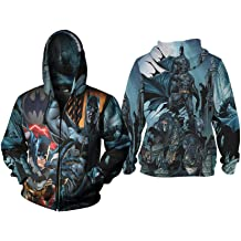 Villains DC Comics Batman Full Print Sublimation Men/'s Zipper Hoodie
