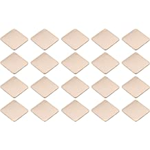 Easycargo 20pcs 20mm Heatsink Copper Shim Thermal Pad 1mm 3M 8810 pre Applied Thermal Conductive Adhesive Tape on Heat Sink for Cooling M.2 NVMe GPU CPU IC Chips VGA RAM 20x20x1.0mm
