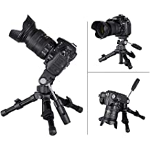 ZXASDC Camera Tripod Phone Tripod Portable Aluminum-Magnesium Alloy Camera Tripod 1//4 Camera Screw Interface 3//8 Ptz Bottom Interface Height Adjustable Compatible with Most Equipment
