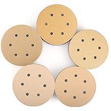150 100 POWERTEC 44201XG-100 Assorted Grit Sanding Discs Hook and Loop Orbital Sander 6-Inch 8 Hole 120 20 Each of 80 220 Grit Aluminum Oxide Round Sand Paper Gold 100 Pack