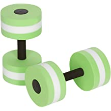 Blue 2pcs Foam Dumbbells Water Aerobic Exercise Dumbbell Pool Resistance Aqua Fitness Barbells Hand Bar Exercises Equipment for Weight Loss YunZyun Water Dumbbells