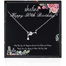 62 Year Old Birthday Gifts for Women Stainless Steel Womens Light Red Zircon Heart Necklace 62nd Birthday Gifts for Women Funny 62nd Birthday Gifts for Women