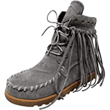 LBPSUUEW Womens Short Ankle Boots Winter Casual Lace Up Warm Boots Round Toe Snow Shoe