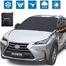 PowerTiger Car Windscreen Cover Cotton Lined Windshield Frost Protector Snow Cover All Weather Front Window Shield Large Size Fits Most Car